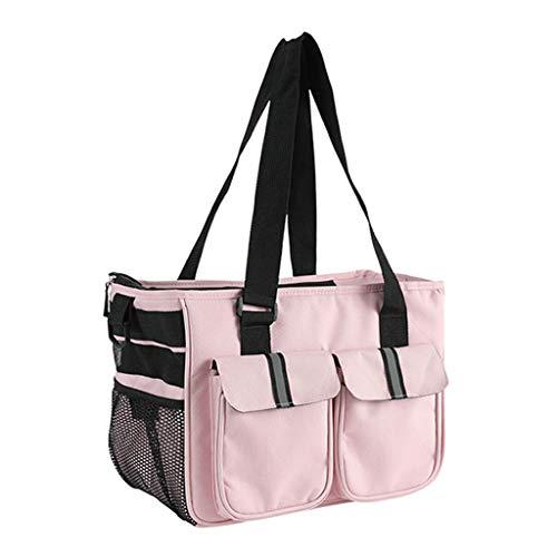 ParadiseB Fashion New Cat Dog Portable Shoulder Diagonal Tote Pet Out Dog Pet Package (Pink)