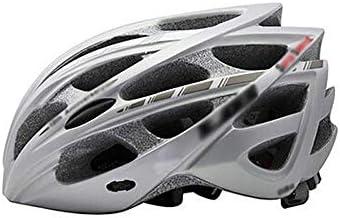 大人用自転車ヘルメット 統合された超軽量昆虫ネットロードマウンテンバイクの機器乗馬ヘルメット スポーツ 大人 男女兼用 (Color : Silver, Size : L)