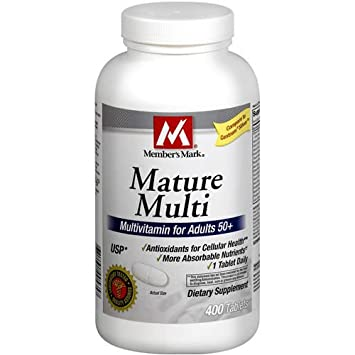 Members Mark Mature Multi Vitamin for Adults, Tablets (Compare To Centrum), 400