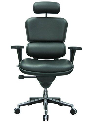 Ergohuman Ergonomic Executive Leather Chair, Black