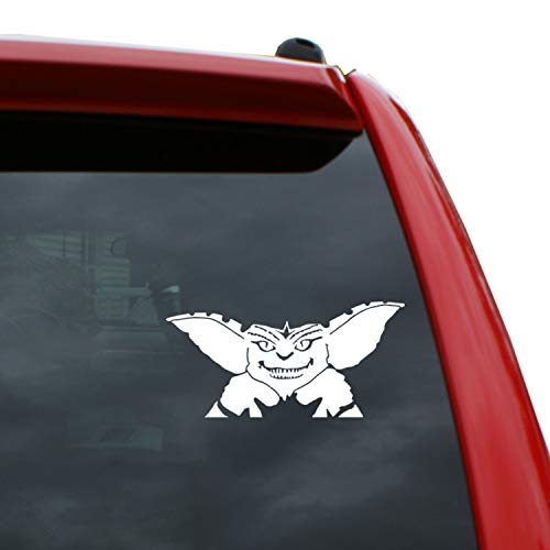 Black Heart Decals & More Gremlins - Spike Vinyl Decal Sticker | Color: White | 6