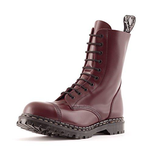 10 Eyelet Cap Toe Boot (Gripfast 10 Eyelet Oxblood Steel Toe Boot UK 9/US 10)