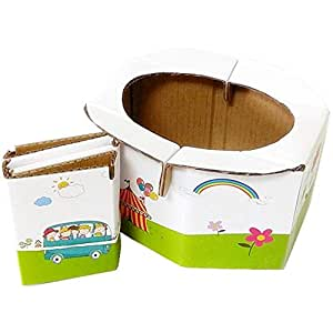 Kids Folding Toilet,Travel Portable Child Toilet,Baby Commode,Car Portable Toilet Seat + 5 Toilet Bags,Recyclable Child Toilet,Environmentally Friendly Toilet,Travel/Beach/campin/Play Field/Train