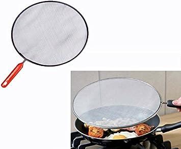 takestop antisalpicaduras antisalpicaduras con mango diámetro 28 cm para sartén olla cacerola sartén freidora True gotas Cocina Hornillo