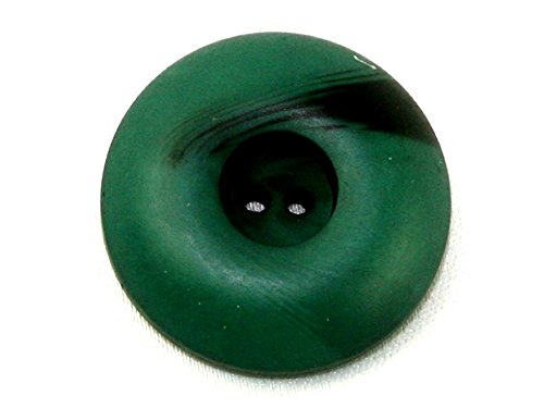 Marbled Chunky - Dill Round Marbled Chunky Coat Buttons Dark Green - per button