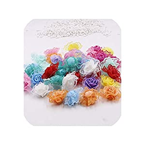 30pcs Mini PE Foam Lace Rose Flower Head Artificial Flowers Handmade Home Decoration 72