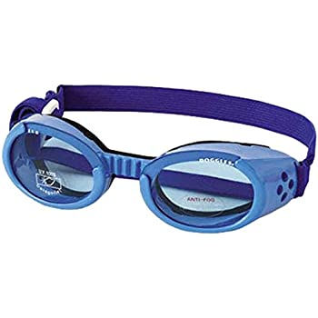 Doggles ILS Small Shiny Blue Frame with Blue Lens Dog Goggles Dog Goggles