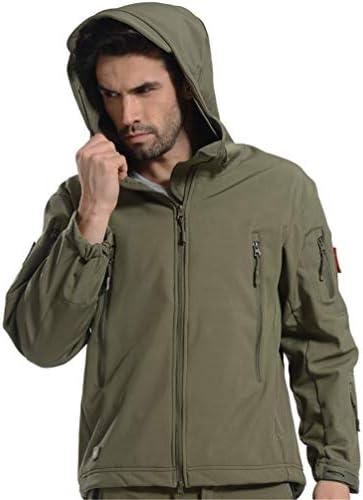 ESFJCOATS Jacket Men Waterproof Camouflage Windbreaker Hiking Hunting Coat Military Jacket Green 5XL