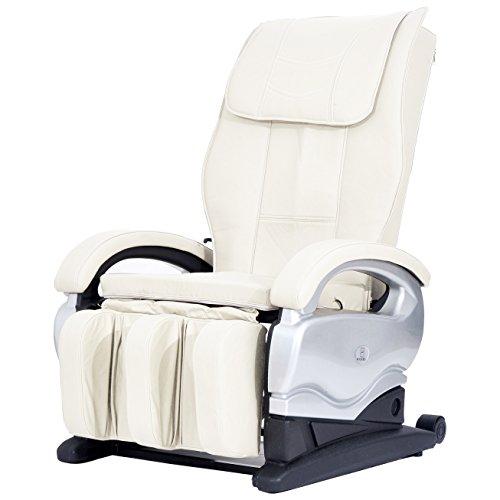 Electric Power Body Shiatsu Sofa Recliner Vibrating Massage Chair 8881 (Creme White)
