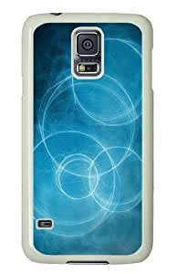 Abstract circles Custom Samsung Galaxy S5/Samsung S5 Case Cover Polycarbonate White