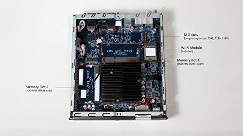 Shuttle XPC Slim DX30, Intel Apollolake Celeron J3355, Gigabit LAN, Dual COM Port, Fanless Design, DDR3L SODIMM Max 16GB by Shuttle (Image #4)'