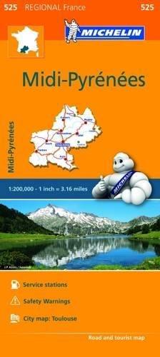 Michelin Regional Maps: France: Midi-Pyrénées Map 525