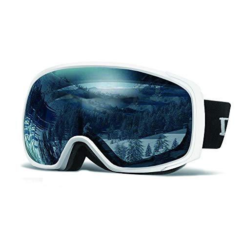 Loowoko Ski Goggles UV Protection Anti Fog OTG Snowboard Goggles for Men Women Youth