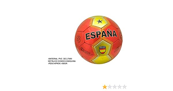 BALON FUTBOL 4 CAPAS ESPAÑA: Amazon.es: Juguetes y juegos