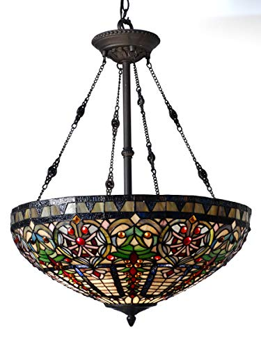 Dale Tiffany TH15120 Fire Opal Hanging Ceiling Light 22