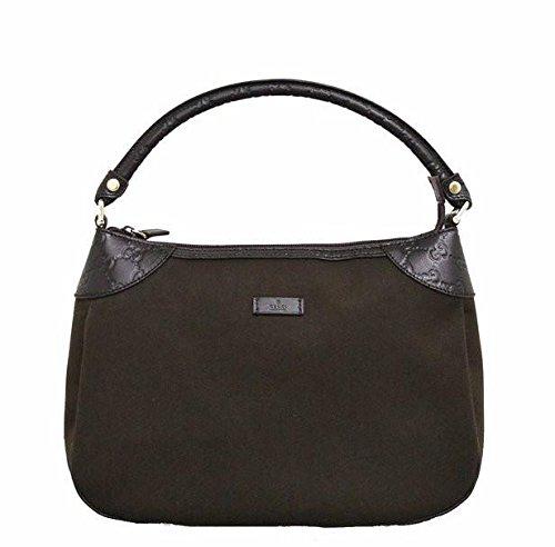 Gucci Brown Canvas Hobo Shoulder Bag Guccissima Leather Handbag (Guccissima Hobo)