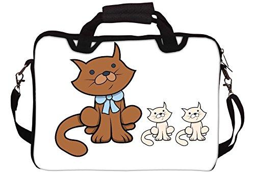 Snoogg Netter Junge vor Tafel Gedruckt Notebook-Tasche mit Schultergurt 15 bis 15,6 Zoll