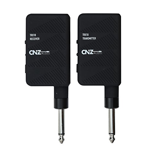 cnz audio wireless guitar transmitter and receiver easy plug play microphone buy online. Black Bedroom Furniture Sets. Home Design Ideas