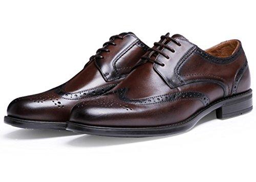 CSDM Scarpe da sposa scarpe da sposa britanniche di Uomo Vestito da Uomo Scarpe da sposa scarpe di prima classe Scarpe di cuoio scarpe di grandi dimensioni Bullock , dark brown , 40