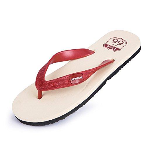 Zapatillas Sandalias Antideslizantes Verano Hombres Masculinas de WMM Chanclas rojo de Casuales para Moda p1AEdwq