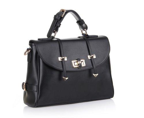 Fineplus Women's Genuine Cow Leather Shoulder Tote Bag Purse