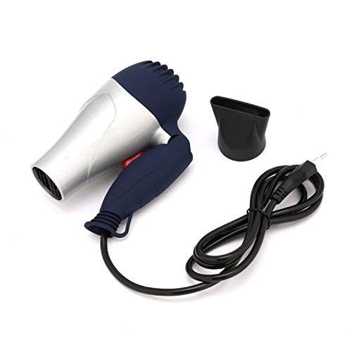Mini Portable Foldable Handle Compact 1500W Hair Dryer Blow Dryer Hot Wind Low Noise Long Life for Outdoor Travel 220V EU Plug,coffee