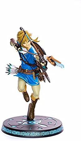 ZELDA Legend Breath of The Wild Link with Bow PVC Painted Statue ...