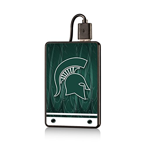 Michigan State Spartans 2200mAh Credit Card Power Bank officially licensed by Michigan State University Long Lasting Full Charge by (Michigan State Credit Card)