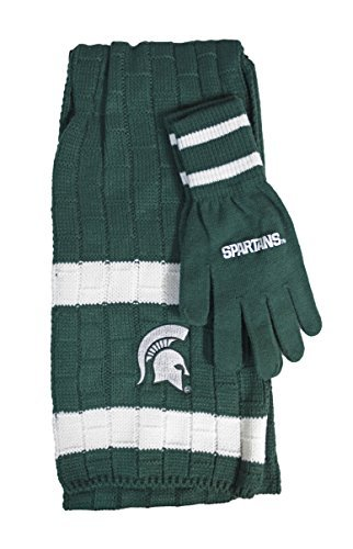 NCAA Michigan State Spartans Team Color Knit Scarf and Glove Gift Set