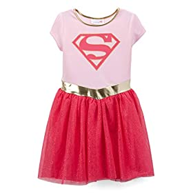 - 41MSOviLonL - DC Comics Little Girl Costume Dress Up Wonder Woman or Supergirl Ages 2-6