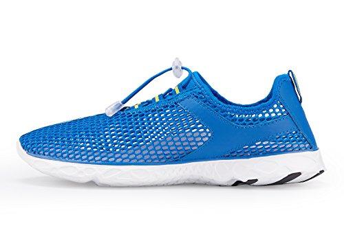 Der Netz-Beleg der A-PIE Frauen auf schnell trocknenden Wasser-Schuhen Blau