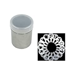 SMYLLS Premium Stainless Steel Cocoa Powder Shaker& 16 Coffee Stencils Set for Cappaccin (Silver )