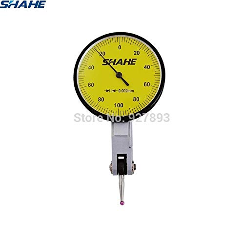 SYH01 1PCS 0-0.2 0.002 mm dial Test Indicator with red Jewel Gauge Tool ()