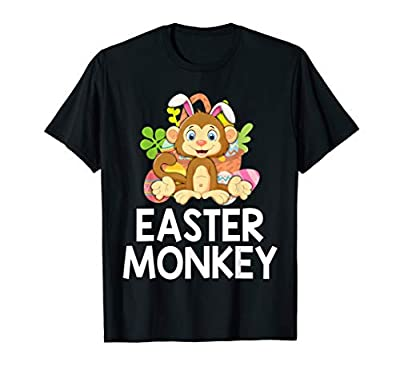 Easter Cute Monkey Funny Easter T-Shirt Gift for Kids Adult
