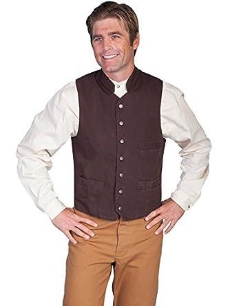 Men's Vintage Inspired Vests Standup Round Collar Vest  AT vintagedancer.com