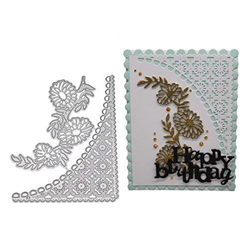 Cutting Dies, Yanvan Flowers Metal Cut Dies for Card Making Stencil Template for DIY Scrapbooking Emboss Album Card Decor Craft Gift (E) ()