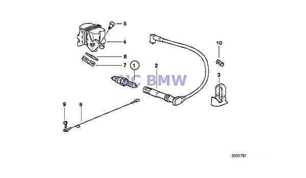 NGK Standard Sparkplug DCPR8EKC for BMW R1150RS 2003-2004