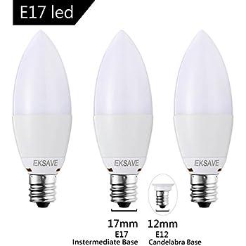 EKSAVE (3 Pack) 7W E17 Candelabra LED Bulb, Equivalent 60 Watt Light Bulbs