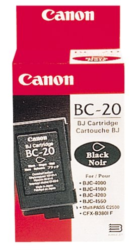 Canon BC-20 Black Ink Cartridge Twin Pack Canon Bc 20 Black Cartridge