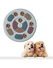 VECELA Hondenpuzzel Slow Feeder Toy, Interactieve Treat Dispenser Slow Feeder Bowl Toy voor katten en honden, IQ Improve antislip hondentraining Feeder
