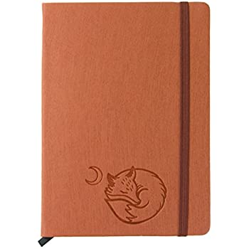 "Red Co Journal with Embossed Fox, 240 Pages, 5""x 7"" Lined, Rust Orange"