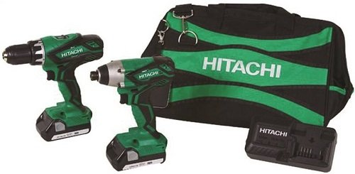 (Hitachi KC18DGL 18-Volt Cordless Lithium Ion Driver Drill and Impact Driver Combo Kit (Lifetime Tool Warranty) (Discontinued by the Manufacturer) )