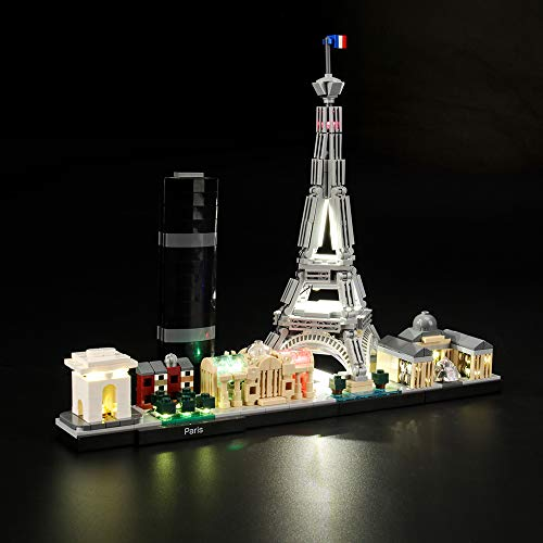 LIGHTAILING Light Set for (Architecture Paris) Building Blocks Model - Led Light kit Compatible with Lego 21044(NOT Included The Model)
