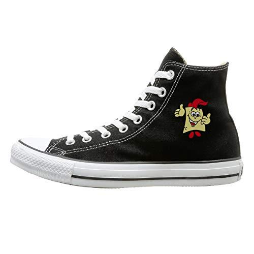 Aiguan Spongebob Canvas Shoes High Top Sport Black Sneakers Unisex Style 126 ()