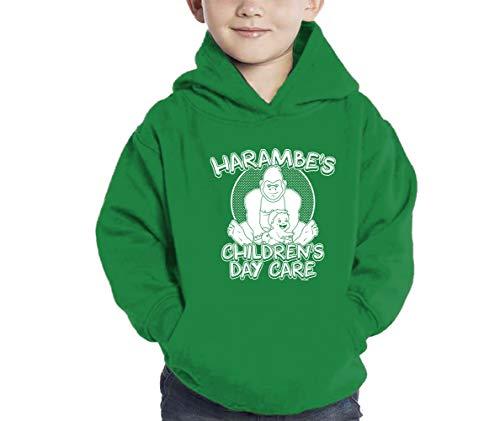HAASE UNLIMITED Harambe's Children Daycare Hoodie Sweatshirt (Kelly Green, -