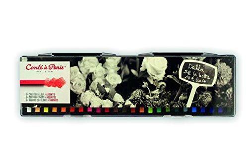 Conté à Paris Colored Crayons Set with 24 Assorted Colors ()