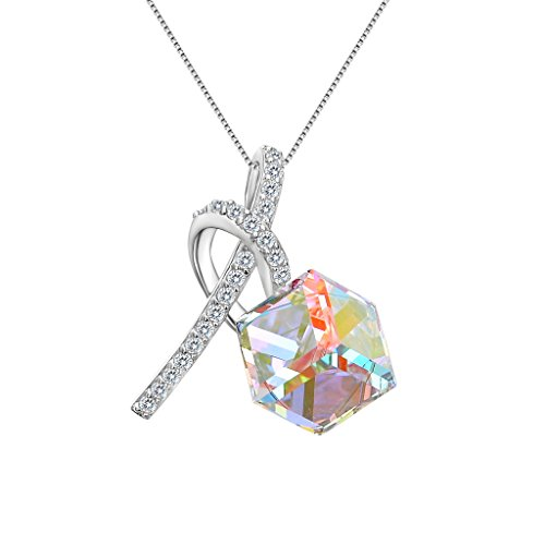 EleQueen Sterling Necklace Swarovski Crystals product image