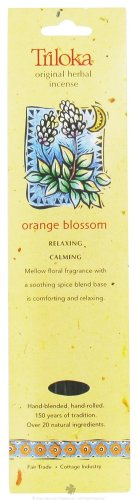 Triloka - Original Herbal Incense Orange Blossom - 10 - Orange Sticks Incense