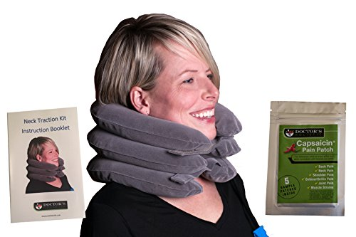 Cervical Comfort Collar | Inflatable Neck Traction Collar for Cervical Decompression and Treatment of Herniated Disc, Arthritis, Pinched Nerves, Tight Muscles | Unlimited Lifetime Guarantee