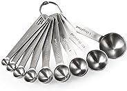 Measuring Spoons: U-Taste 18/8 Stainless Steel Measuring Spoons Set of 9 Piece: 1/16 tsp, 1/8 tsp, 1/4 tsp, 1/